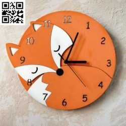 Fox wall clock file cdr and dxf free vector download for Laser cut