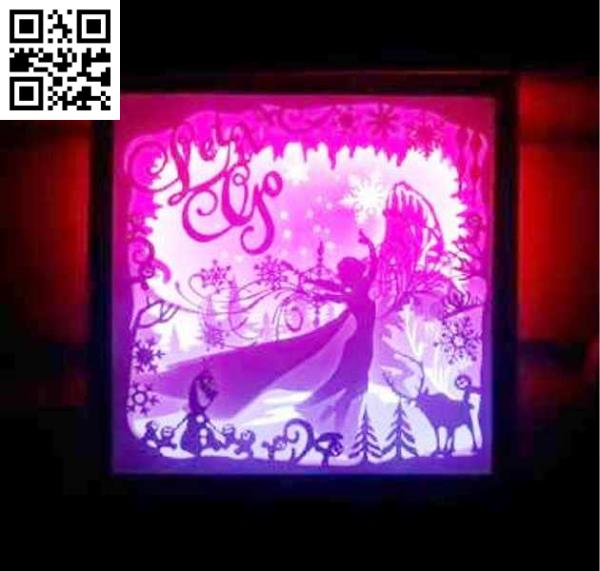 Frozen light box file cdr and dxf free vector download for Laser cut
