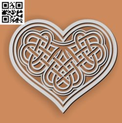 Geometric heart celtic file cdr and dxf free vector download for Laser cut