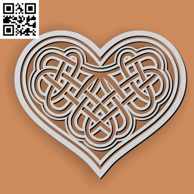 Geometric heart celtic file cdr and dxf free vector download for Laser cut1