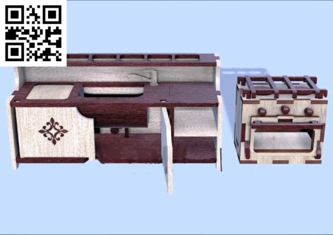 Kitchen furniture file cdr and dxf free vector download for Laser cut