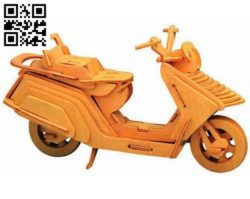 Lambreta motorbike file cdr and dxf free vector download for Laser cut