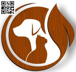 Logo dog and cat file cdr and dxf free vector download for Laser cut