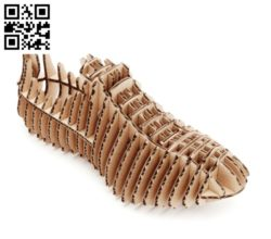 Men's shoes file cdr and dxf free vector download for Laser cut