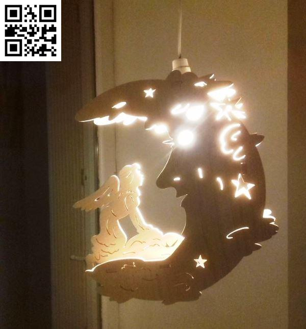 Moon and fairy lights file cdr and dxf free vector download for Laser cut