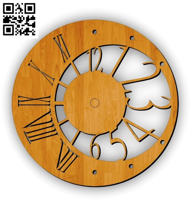 Moon clock file cdr and dxf free vector download for Laser cut