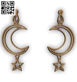 Moon earrings file cdr and dxf free vector download for Laser cut