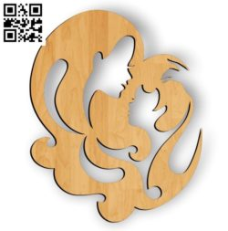 Mother and son file cdr and dxf free vector download for Laser cut