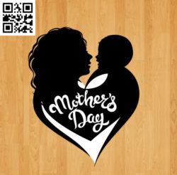 Mother's Day file cdr and dxf free vector download for laser engraving machines
