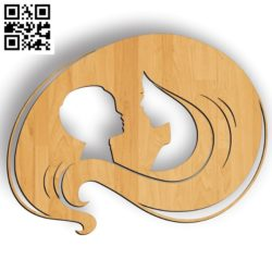 Mother's hair file cdr and dxf free vector download for file cdr and dxf free vector download for Laser cut