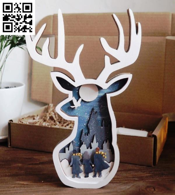 Multilayered deer head file cdr and dxf free vector download for Laser cut