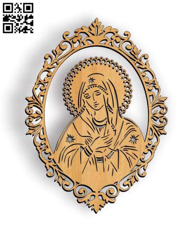 Our Lady file cdr and dxf free vector download for Laser cut