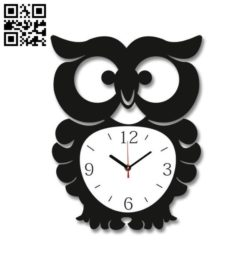 Owl clock file cdr and dxf free vector download for Laser cut