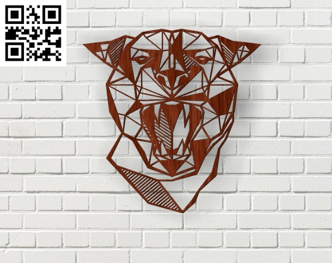 Puma head paintings file cdr and dxf free vector download for Laser cut