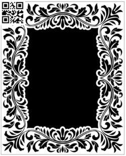 Rectangular frame file cdr and dxf free vector download for laser engraving machines