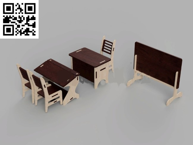 School furniture file cdr and dxf free vector download for Laser cut