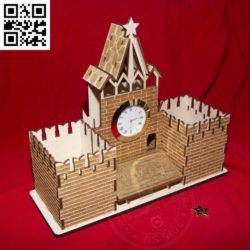 Spasskaya tower file cdr and dxf free vector download for Laser cut