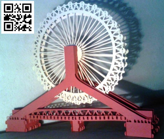 Tianjin Eye Bridge file cdr and dxf free vector download for Laser cut