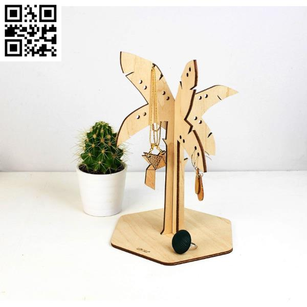 Tree Jewellery Stand file cdr and dxf free vector download for Laser cut