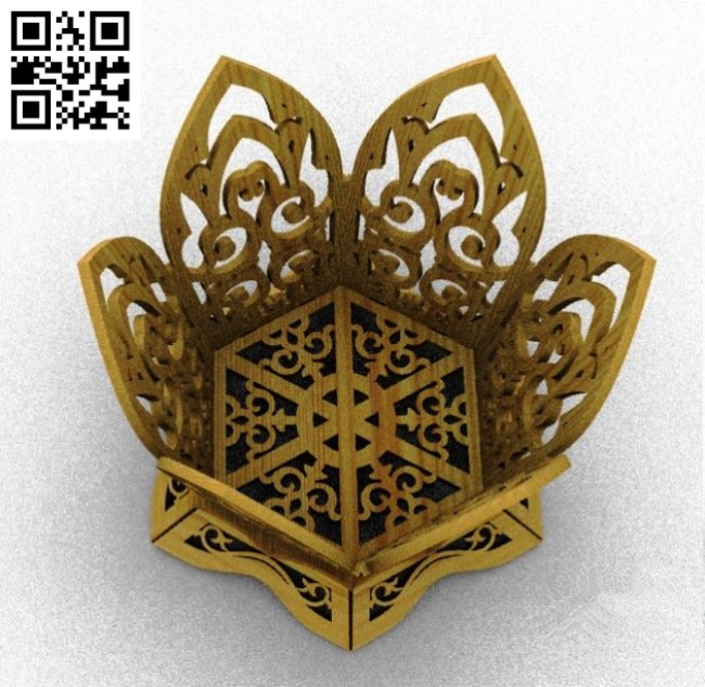 Vase shaped six petals file cdr and dxf free vector download for Laser cut