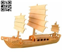 Venetian Boat file cdr and dxf free vector download for Laser cut