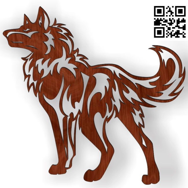 Wolf panel file cdr and dxf free vector download for Laser cut Plasma