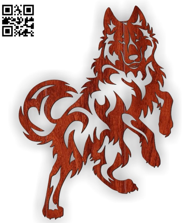 Wolf standing file cdr and dxf free vector download for Laser cut Plasma