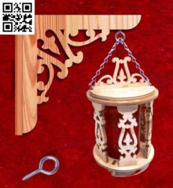 Wooden lantern file cdr and dxf free vector download for Laser cut CNC