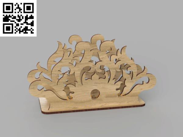 Wooden napkin holder file cdr and dxf free vector download for Laser cut
