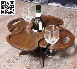 Wooden wine table file cdr and dxf free vector download for Laser cut