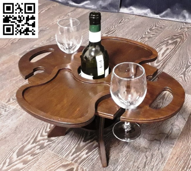 Wooden wine table file cdr and dxf free vector download for Laser cut 1