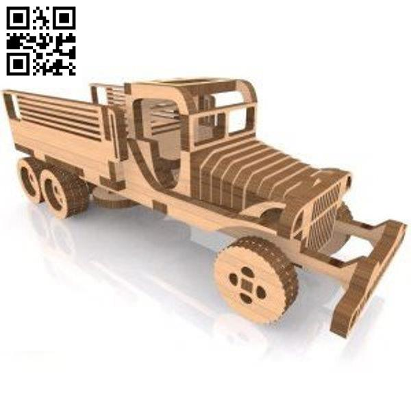 armytransport car file cdr and dxf free vector download for Laser cut