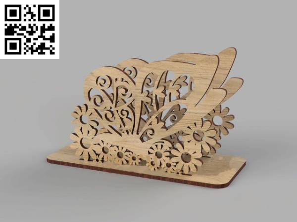 butterfly napkin holder file cdr and dxf free vector download for Laser cut