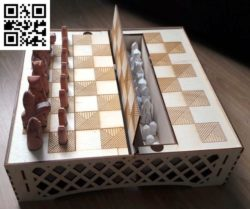 chessboard-box file cdr and dxf free vector download for Laser cut