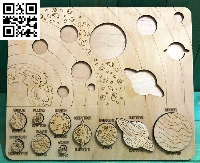 solar system file cdr and dxf free vector download for Laser cut1