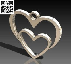 two hearts file cdr and dxf free vector download for Laser cut