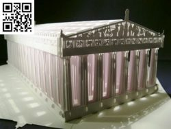 Athens Parthenon E0010480 file cdr and dxf free vector download for Laser cut