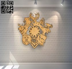Beast clock file cdr and dxf free vector download for Laser cut