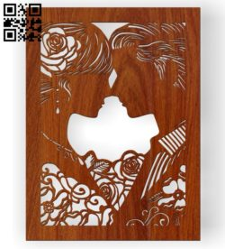 Bride and groom E0010492 file cdr and dxf free vector download for Laser cut