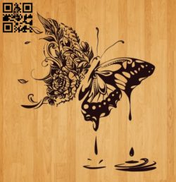 Butterfly E0010483 file cdr and dxf free vector download for laser engraving machines