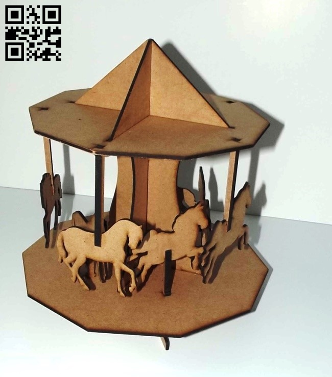 Carousel E0010473 file cdr and dxf free vector download for Laser cut