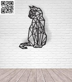 Cat decorates the wall file cdr and dxf free vector download for Laser cut