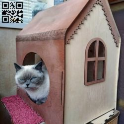 Cat house E0010467 file cdr and dxf free vector download for laser cut