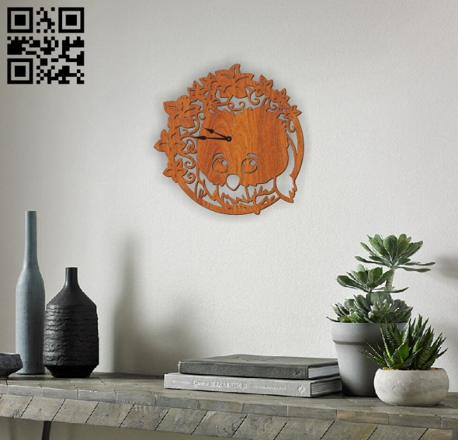 Clock with a bird E0010464 file cdr and dxf free vector download for laser cut