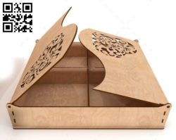 Cookie box E0010509 file cdr and dxf free vector download for Laser cut