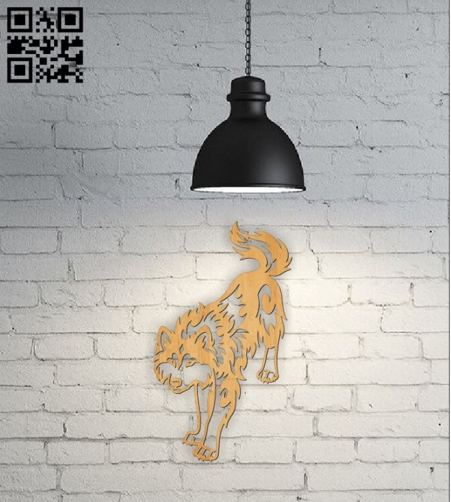 Decorative wolffile cdr and dxf free vector download for Laser cut