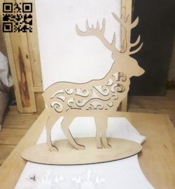 Deer E0010518 file cdr and dxf free vector download for Laser cut