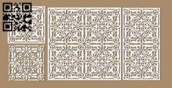 Design pattern screen panel E0010502 file cdr and dxf free vector download for Laser cut CNC
