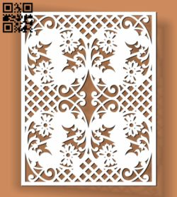 Design pattern screen panel E0010503 file cdr and dxf free vector download for Laser cut CNC