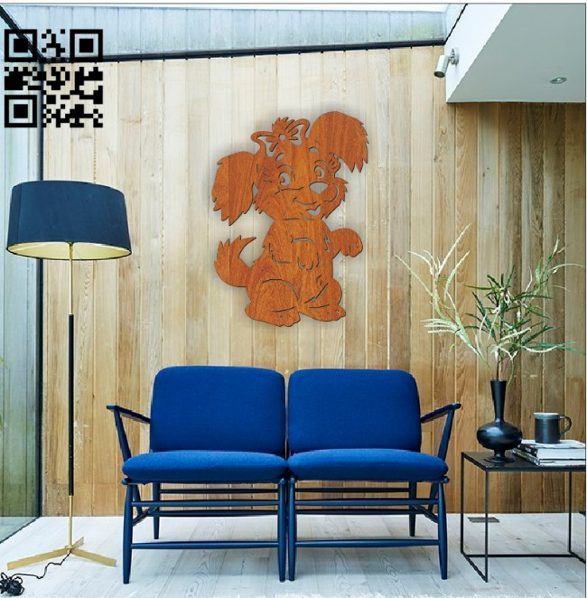Dog wall paintings file cdr and dxf free vector download for Laser cut
